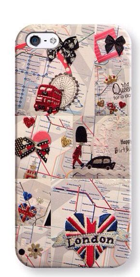 London Underground iPhone 5 phone cover  on Etsy, £28.77
