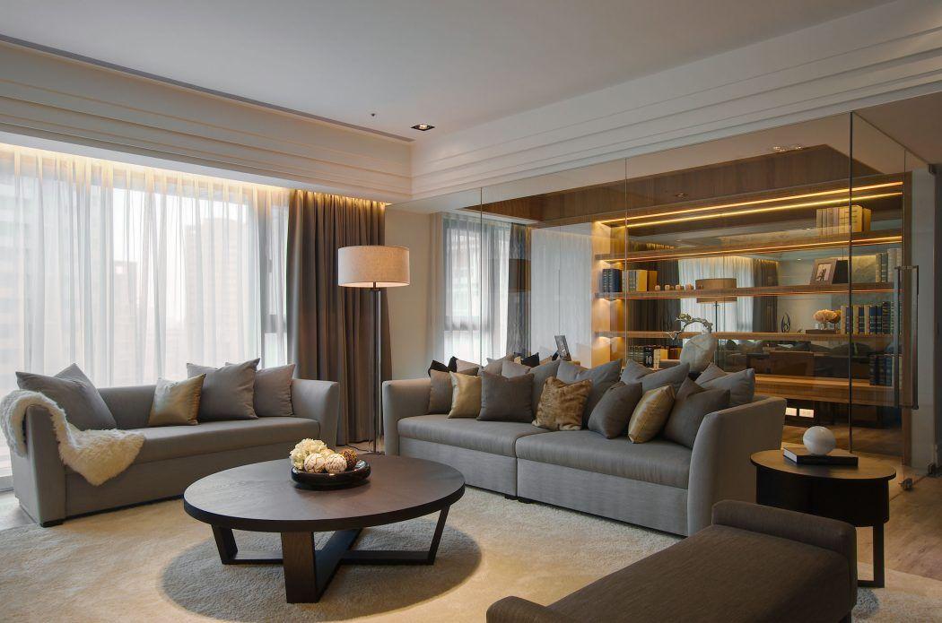 Elegant Apartment by j+C Interior Design  Interior  Living room designs, Hall interior design