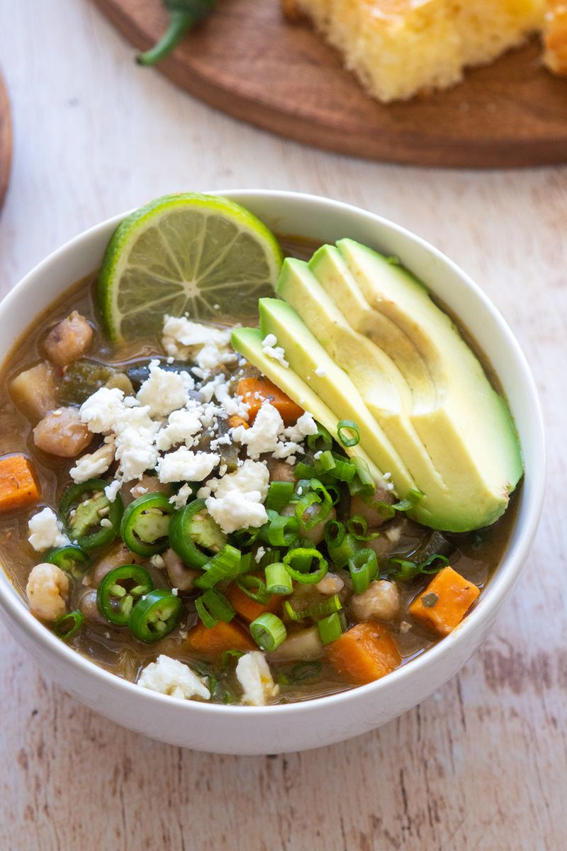 Vegetarian Slow Cooker Chili Verde Giadzy Slow Cooker Vegetarian Chili Slow Cooker Chili Vegetarian Slow Cooker Recipes