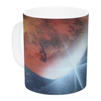 KESS InHouse Embark by Infinite Spray Art 11 oz. Nature Ceramic Coffee Mug