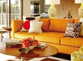 Orange sofa! Oh my!