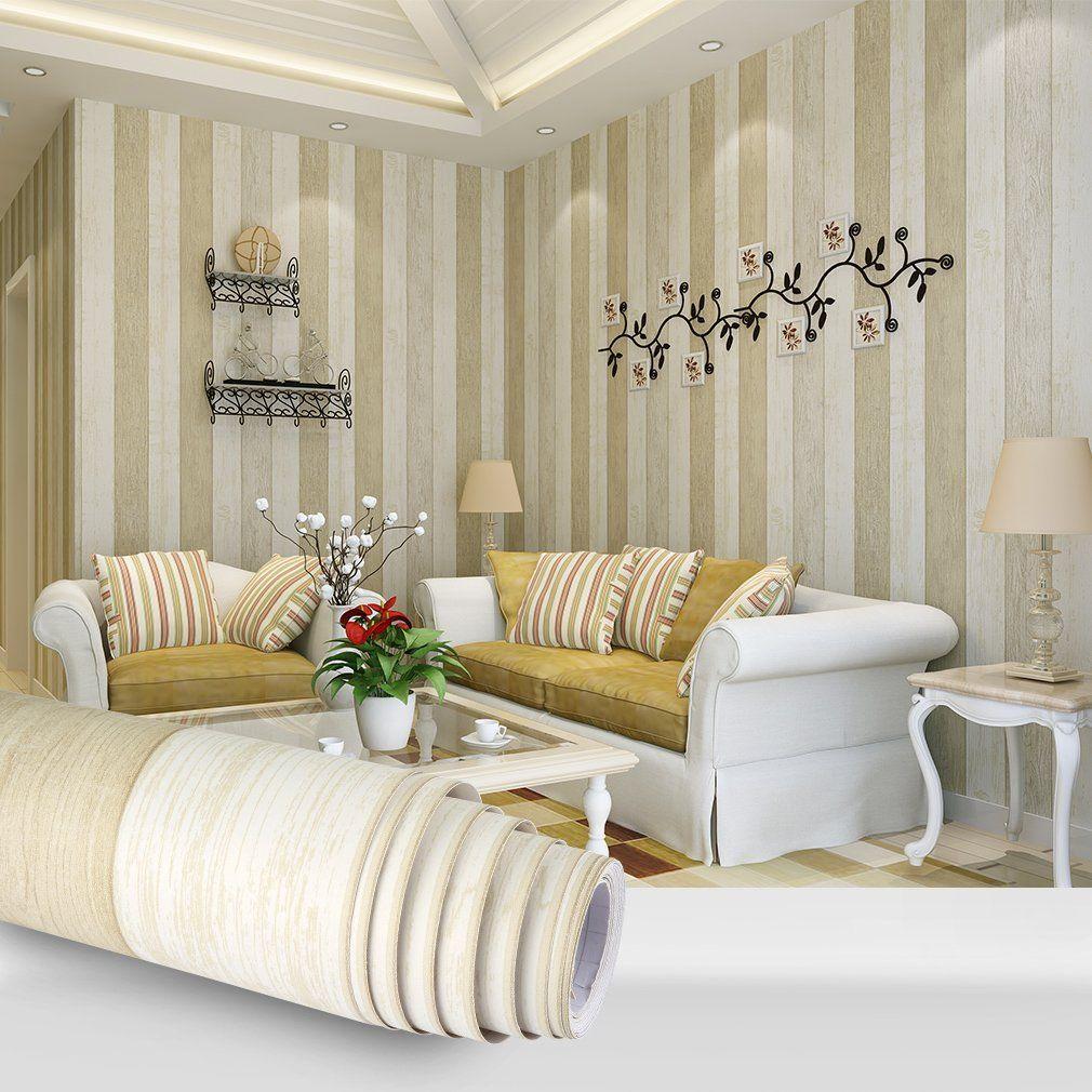 Best Bedroom Wallpaper 3D Wood Model Self Adhesive Yellow Wall 400 x 300