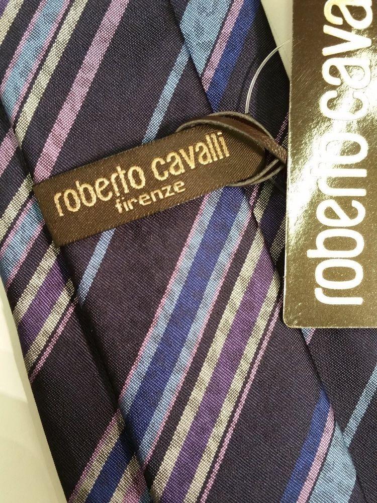 Roberto Cavalli Firenze Italian Luxury chic & special beautiful Tie  NWT$175 #RobertoCavalli #NeckTie