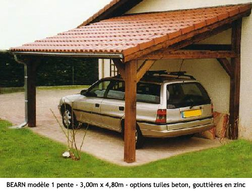 Carports - Bois  Jardin - Garage Pinterest