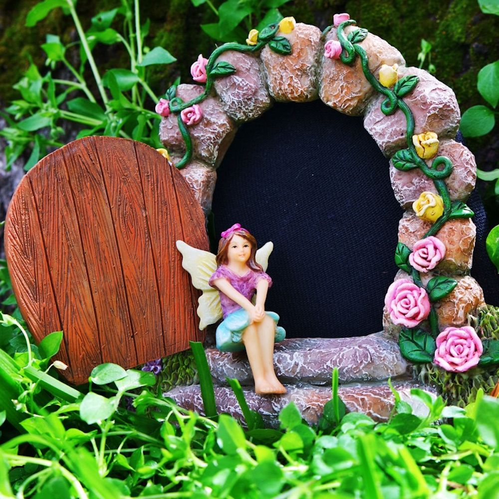 Fairy Bluebell Enjoying A Beautiful Spring Day In The Enchanted Fairy Garden