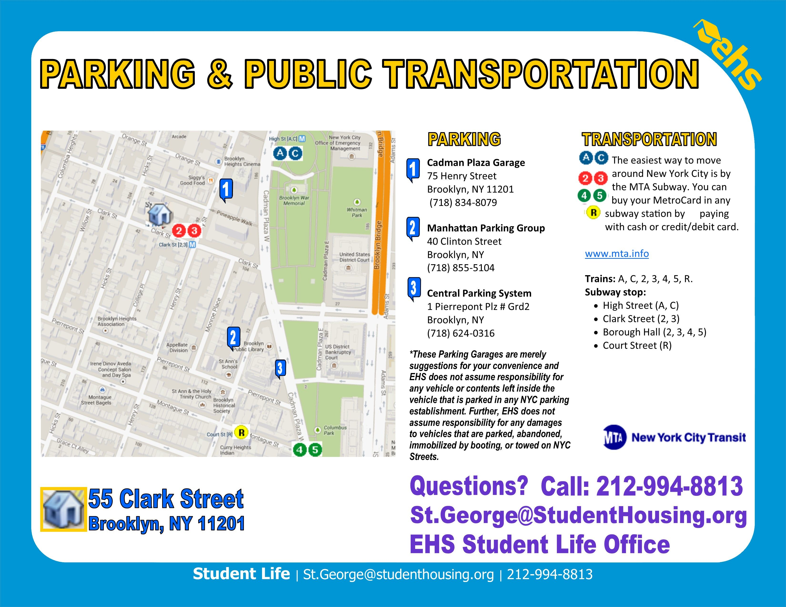 Arrival Information | NYC Student Housing Locations ...