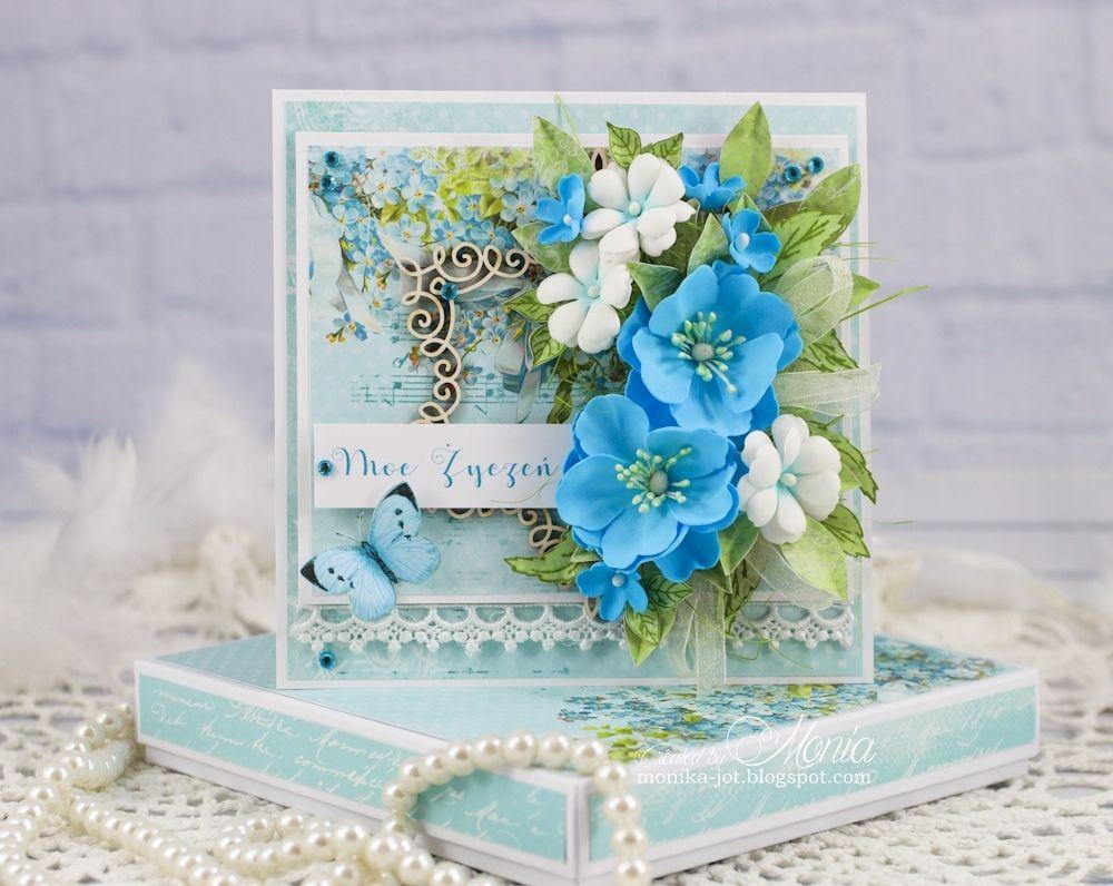 синие цветы для открытки своими руками объяснил это