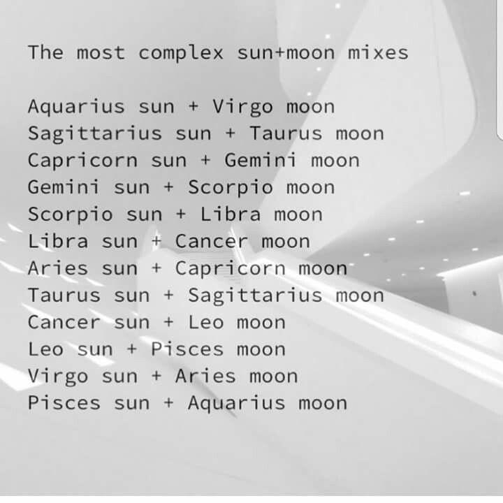 Most complex Sun + Moon mixes | Zodiac Posts | Zodiac, Zodiac posts