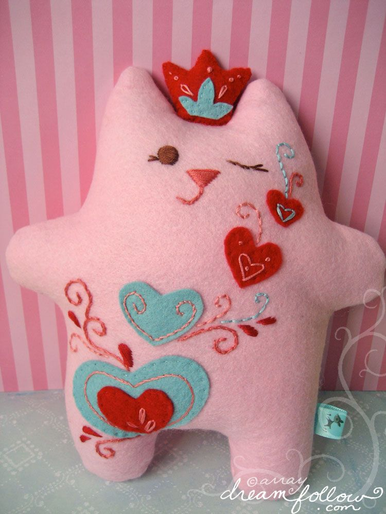 Here is a cute pink princess fatkitty I made recently for a custom ...