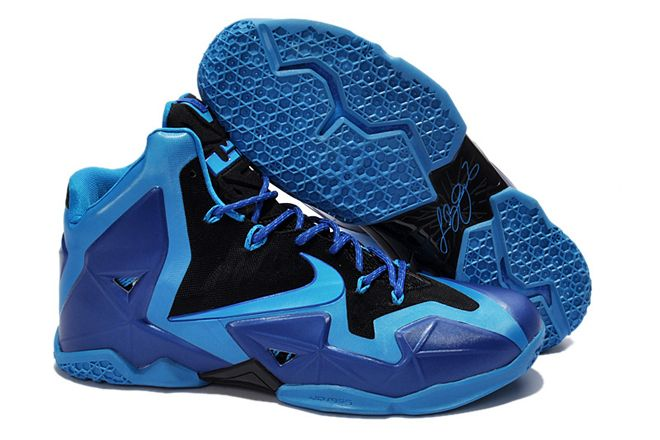 1d8adc75bb9 Royal Blue Black Colors Big Kids Nike Lebron Air Max Zoom 11 Basketball  Shoes