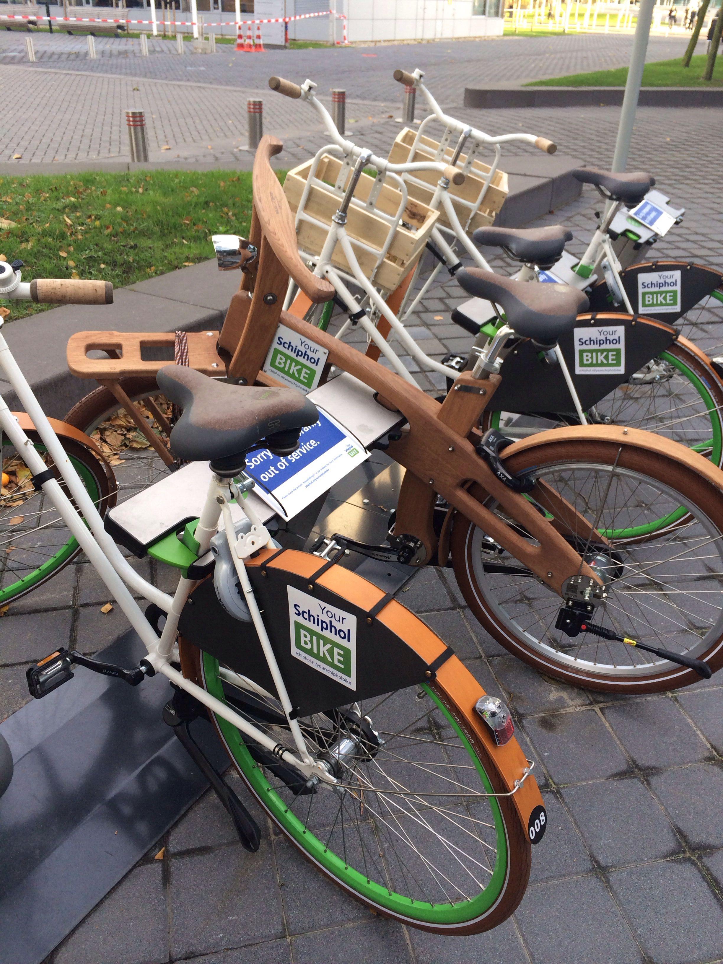 Schiphol houten fietsen