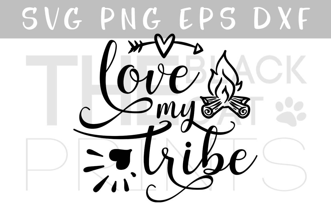 Download Love my tribe | heart, arrow & fireplace SVG PNG EPS DXF ...