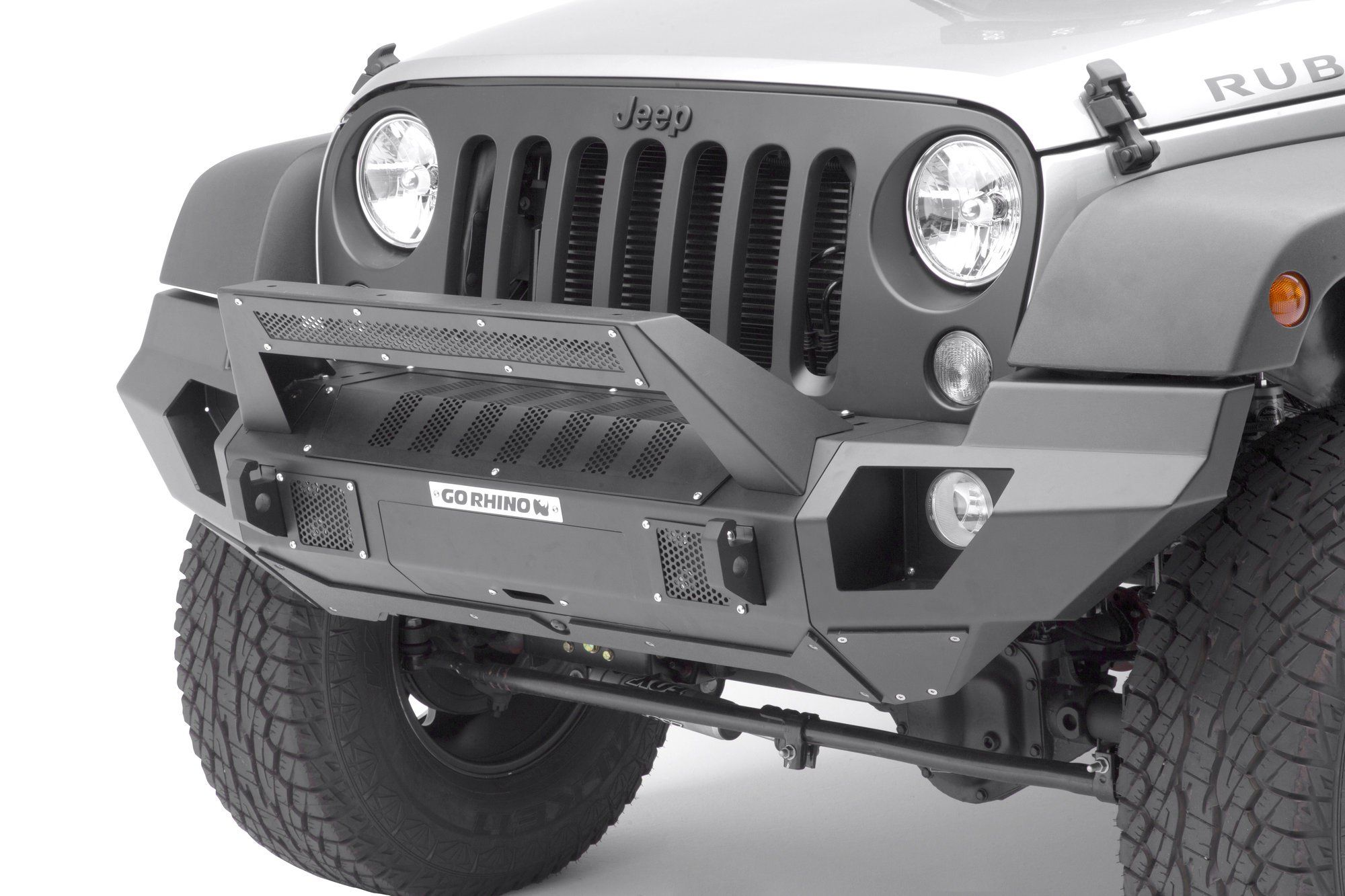 The Go Rhino Brj40 Front Bumper Is The Ultimate Modular Bumper For The Jeep Wrangler Jk Completing The Jeep Wrangler Bumpers Jeep Bumpers Jeep Front Bumpers