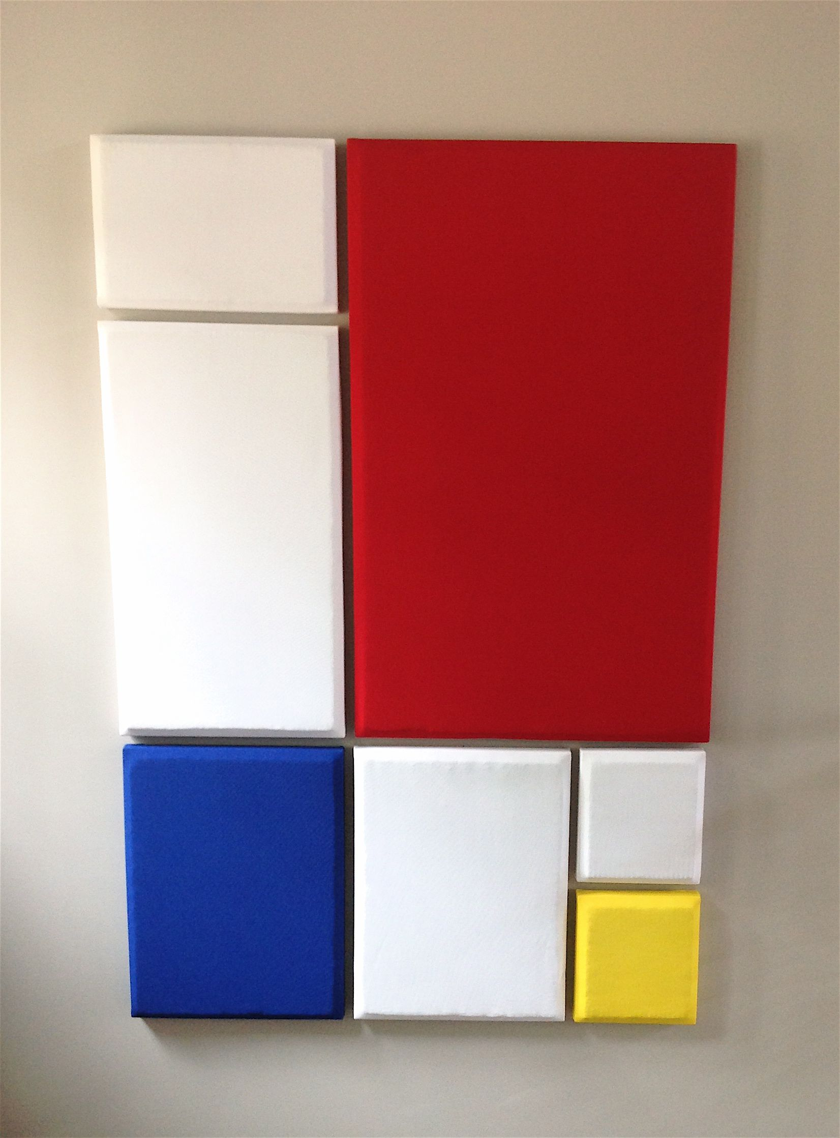 Acoustic absorption panels masquerading as Mondrian art  | House <3