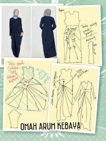 Pin by Safrida wahab on Pola Busana | Pinterest | Kaftan, Kebaya and ...