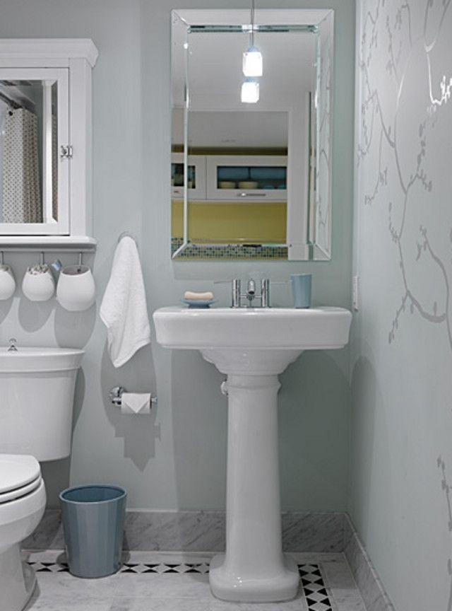 Bathroom Mirror Over Pedastal Sink Re Vanity Vs Pedestal Sink For Half Bath Small Basement Bathroom Basement Bathroom Remodeling Small Bathroom