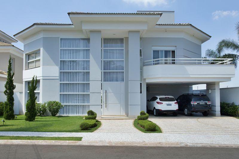Construindo minha casa clean fachadas pinterest for Fachadas de casas e interiores