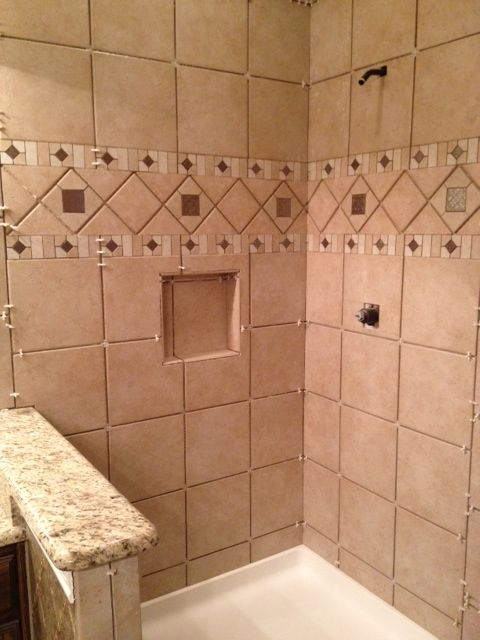 Rialto tile from lowes bathroom pinterest master for Lowes bathroom tile designs