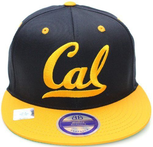 513f498411e1b Berkeley California Golden Bears Cal Script Flat Bill Snapback Hat Cap Navy  Gold NCAA.  14.99