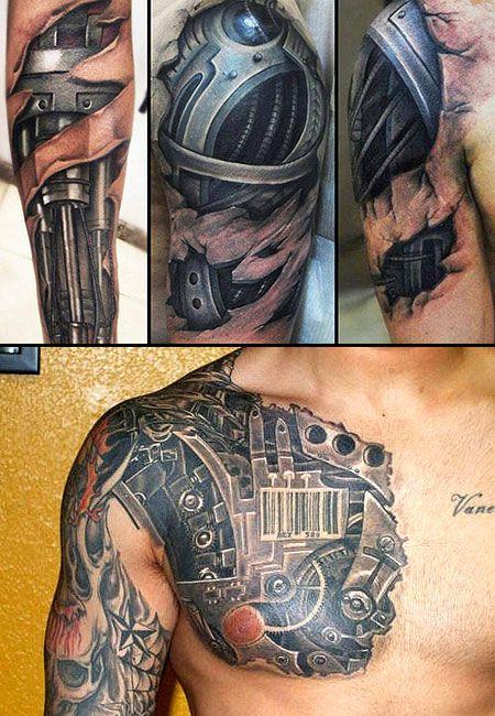 incredible terminator-inspired tattoos | graphics | tattoos