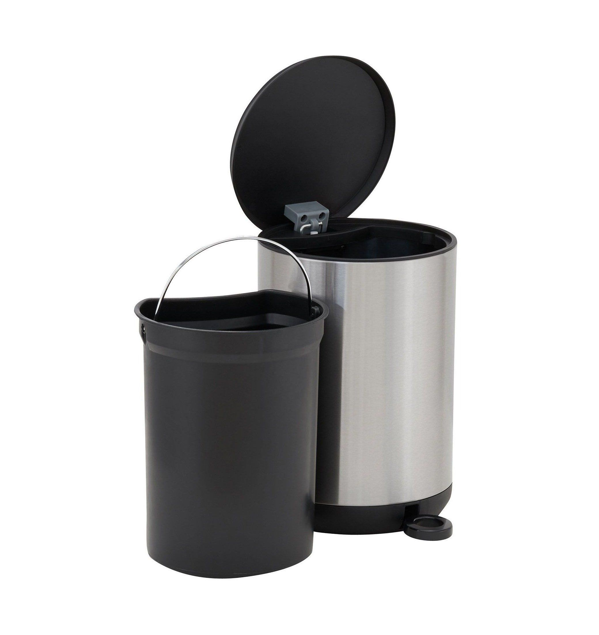 Bathroom Trash Can With Lid And Foot Pedal Bathroomtrashcanwithlidandfootpedal Round Trash Can 5 Li In 2020 Trash Can Bathroom Trash Can Household Essentials