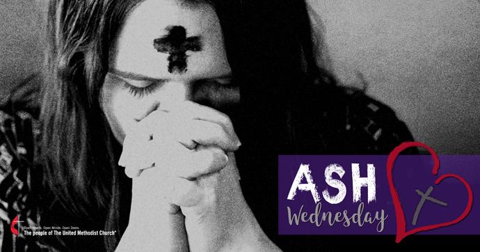 Ash Wednesday social media graphics United Methodist