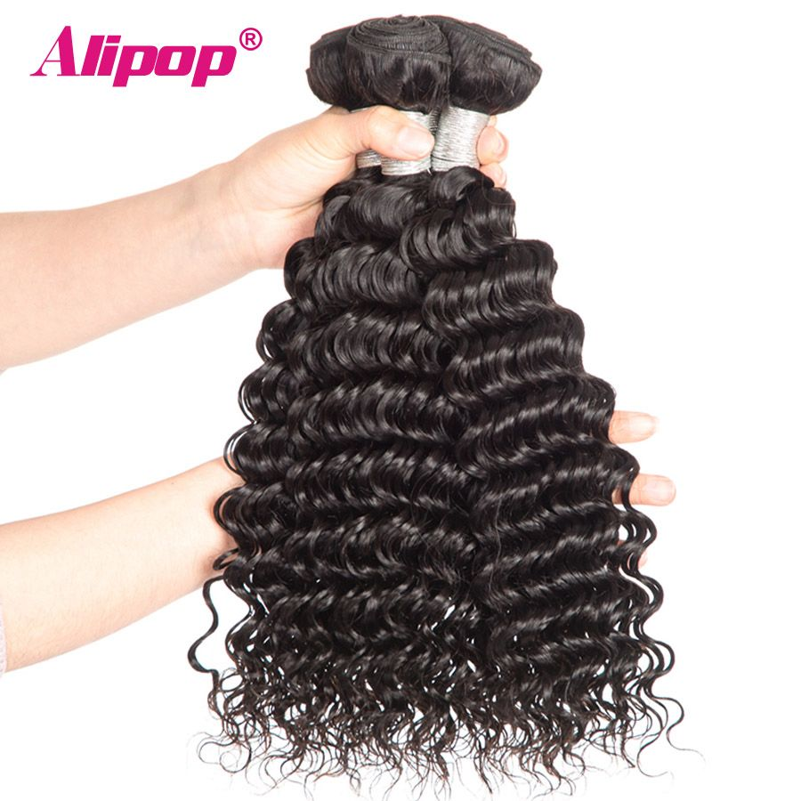 Deep Wave Brazilian Hair Weave Bundles 1 Bundle Remy Human Hair