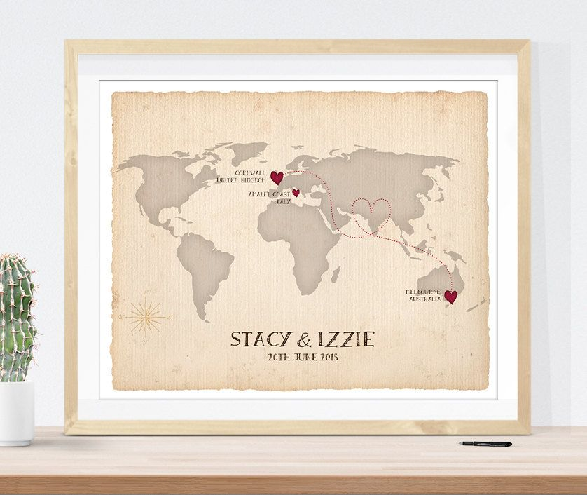 Wedding map guest sign in print custom antique map vintage world wedding map guest sign in print custom antique map vintage world map to show your gumiabroncs Image collections