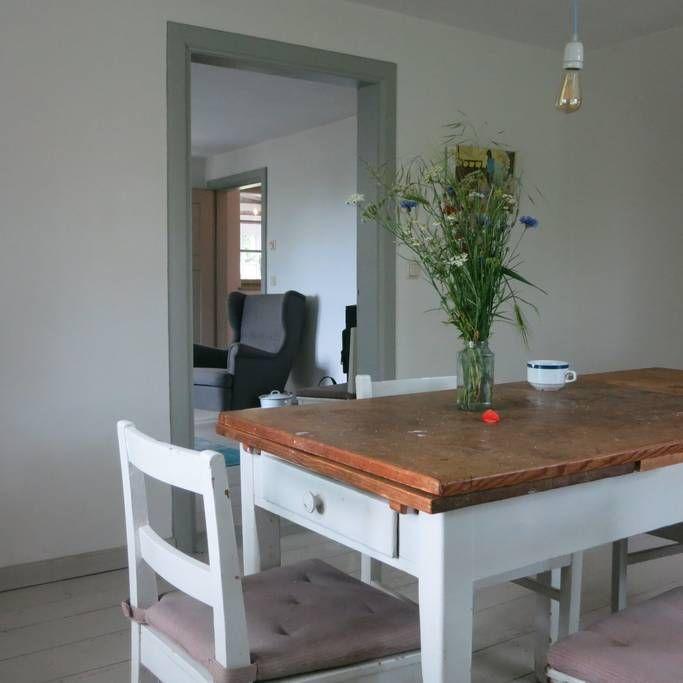 Esszimmer Mit Blick Zum Wohnzimmer Farben Tapeten Fliesen In