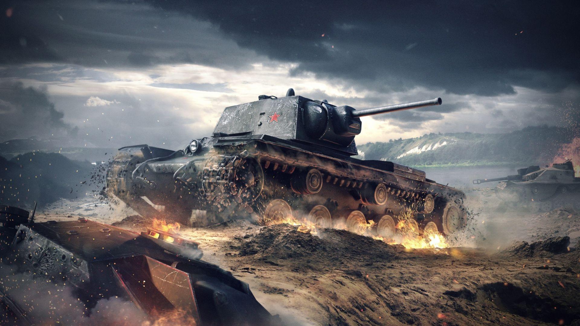1920x1080 Wallpaper World Of Tanks Blitz Wargaming Net Kv