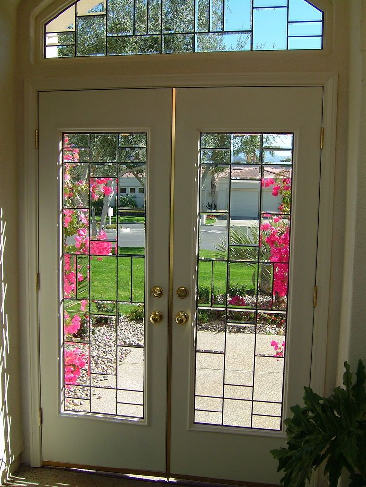 Vertical Bevels Glass Doors And Glass Windows Etched Glass Windows