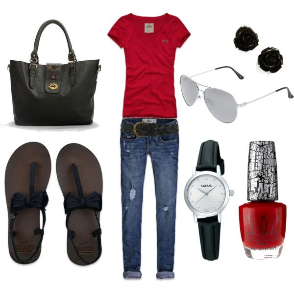 red and black, created by kasey-beaulieu on Polyvore