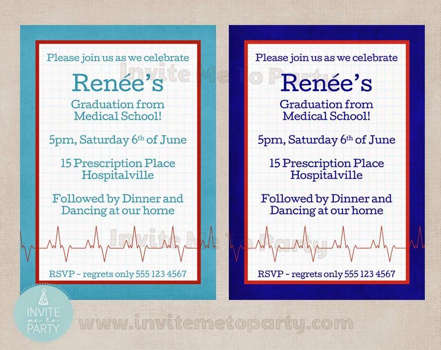 Medical School Graduation Invitation / Doctors Party / Nurses ...