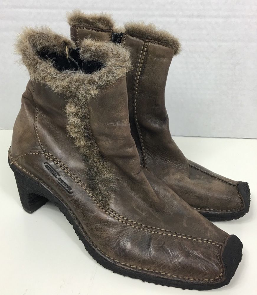 Camel Active Soho Heel Brown Leather Boots UK 4 5 Womens US Size 7 | eBay