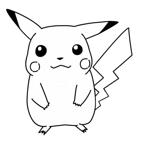 Disegni Da Colorare Di Pokemon.Disegno Di Pokemon Pikachu Da Colorare Per Bambini Disegni Da