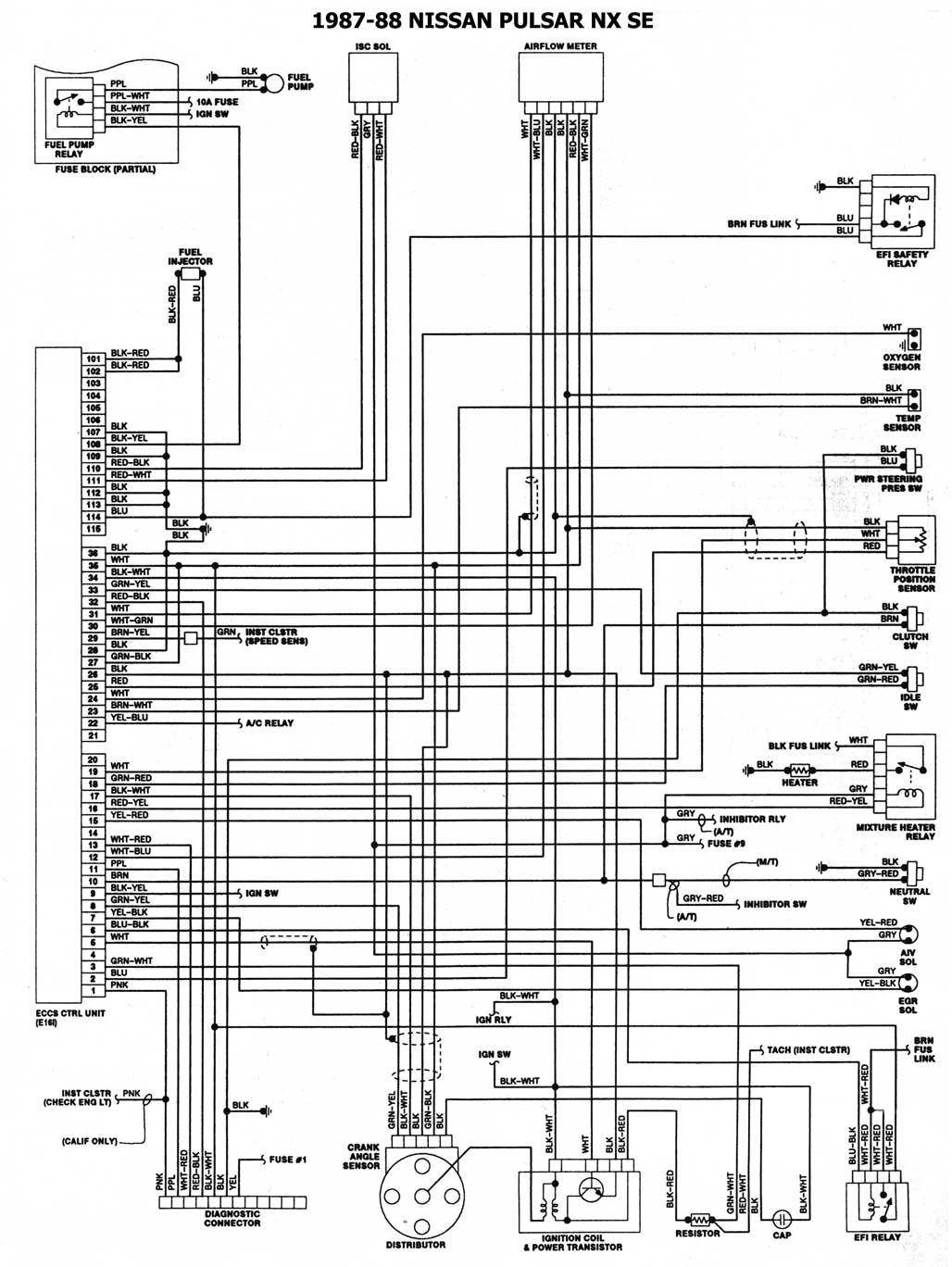 Diagrama Sistema Electrico Nissan Tsuru 8 In