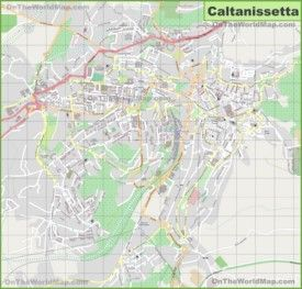 Large detailed map of Caltanissetta Interesting Maps of Italy