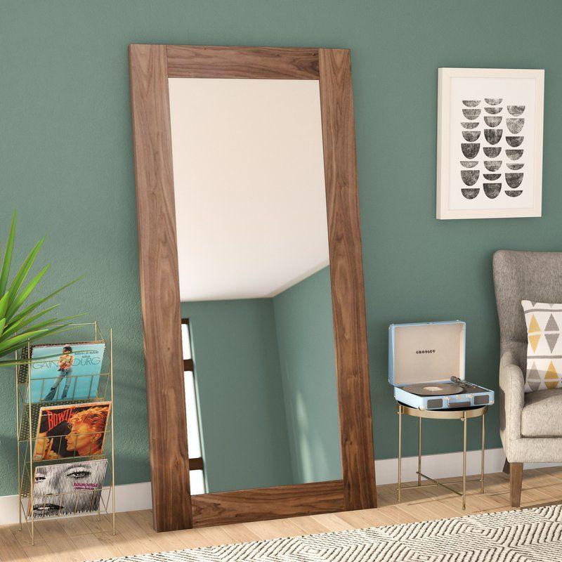 Jaxen Rectangle Walnut Full Length Mirror Modern Full Length Mirrors Wood Full Length Mirror Full Length Mirror