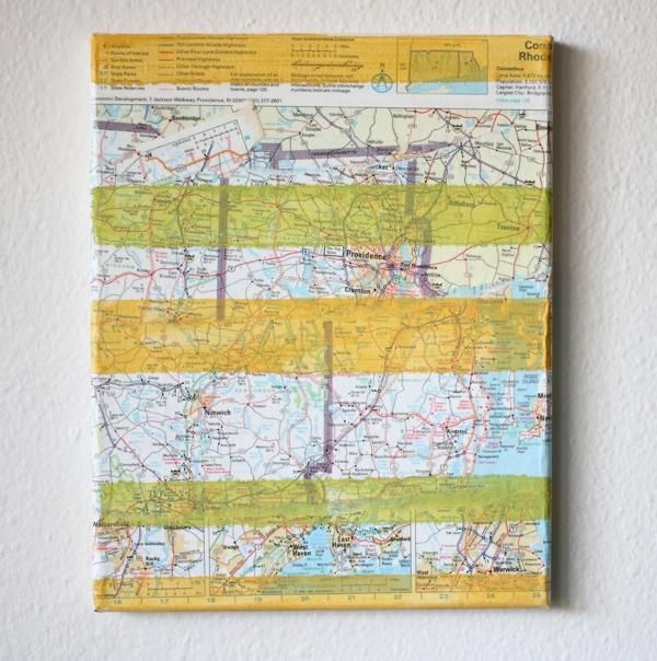 DIY Map Art : DIY Recycled Modern Recycled Map Art DIY home decor ...