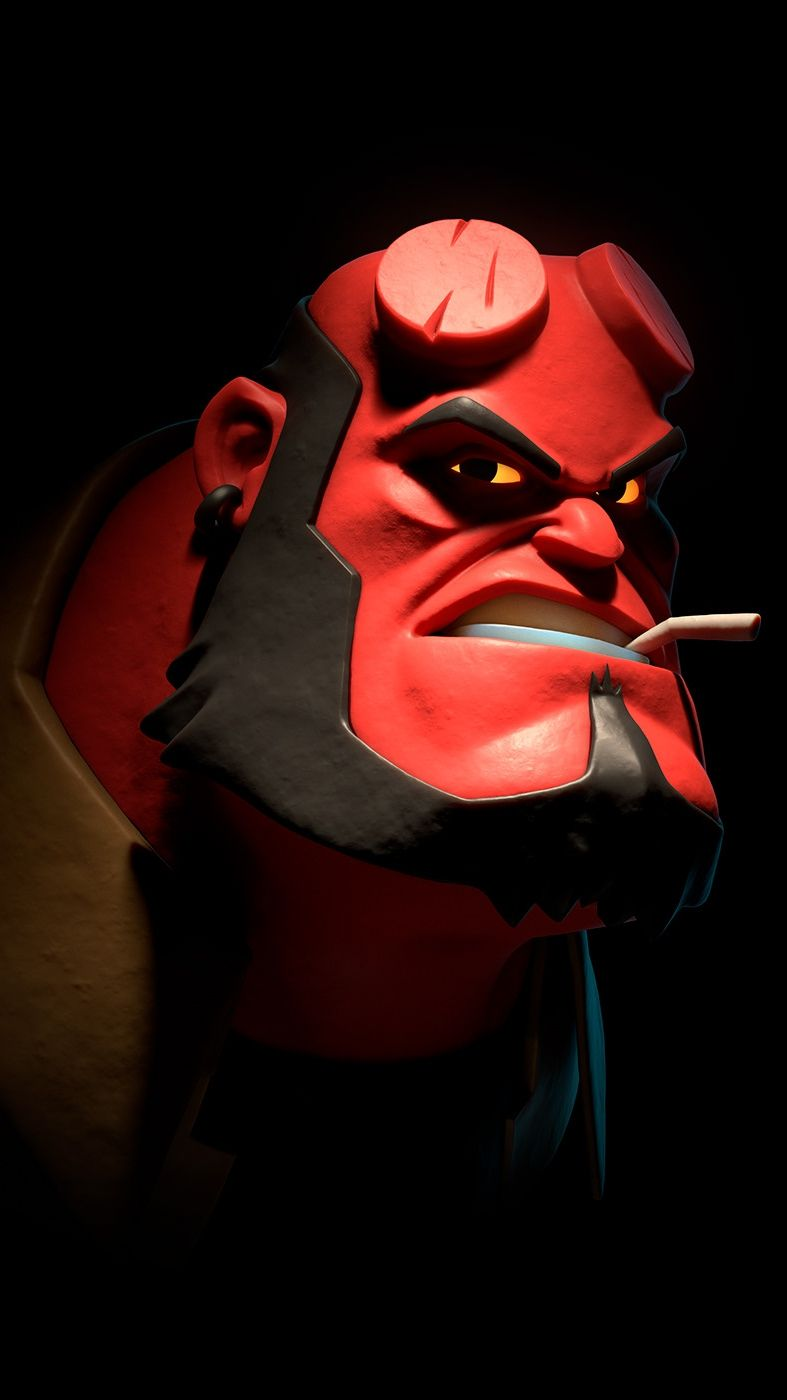 Hellboy Funny Face iPhone Wallpaper in 2020 Joker iphone