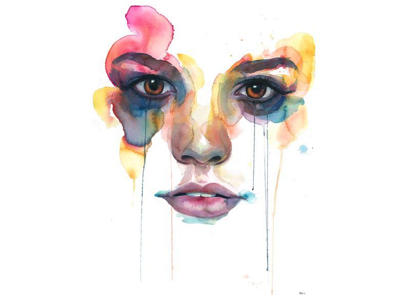 Painting Beauty Marion Bolognesi Art Watercolor Face Art Design