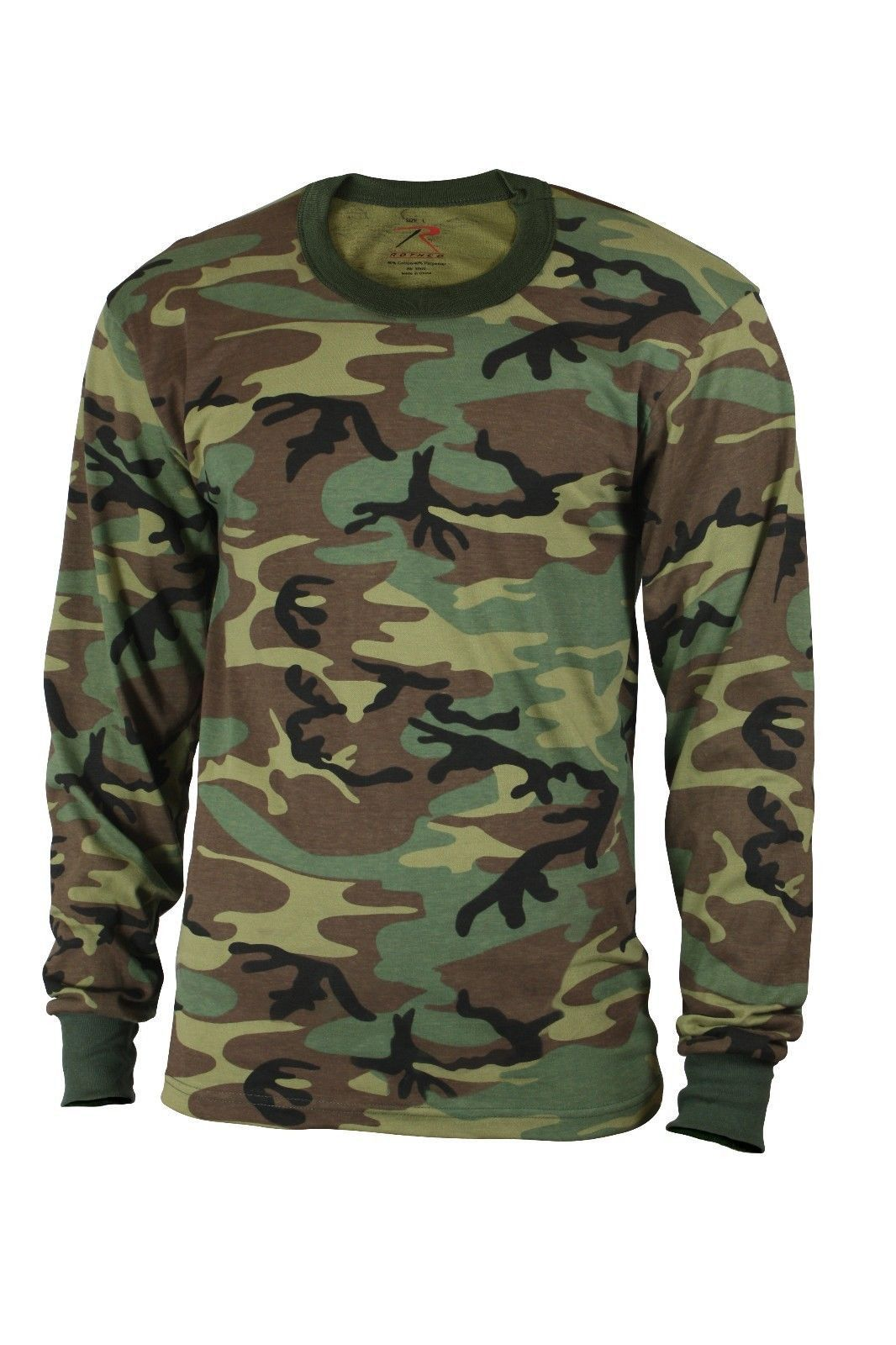 c44e23726c2 KIDS LONG SLEEVE CAMOUFLAGE T-SHIRTS Comfortable Poly Cotton Blend Material  Available in Woodland Camo or ACU Digital Camo Great Trendy Look for Boys  and ...