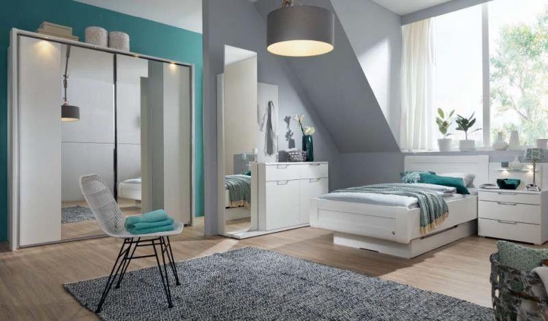 Rauch #Schlafzimmer #Möbel #Bett #Schrank #weiß