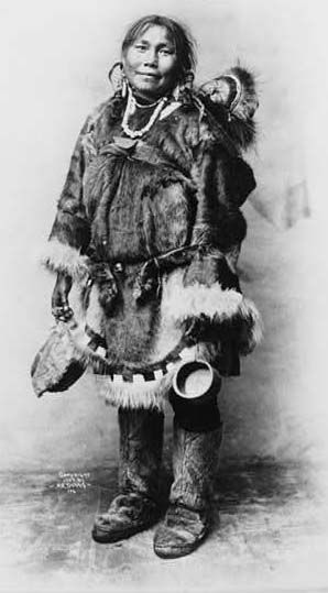 Inupiat Traditional Art | Eskimo clothing was sewn largely ...