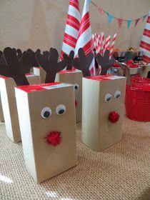 Kylie Mae S Party Ways How To Make Reindeer Juice Boxes Christmas Diy Snacks Preschool Christmas Party Kids Christmas Party