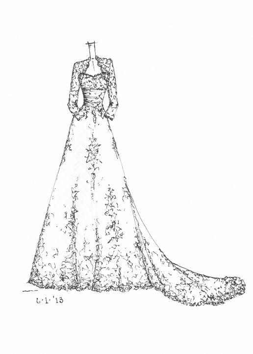 wedding dress sketch | wedding dress sketches | Pinterest ...