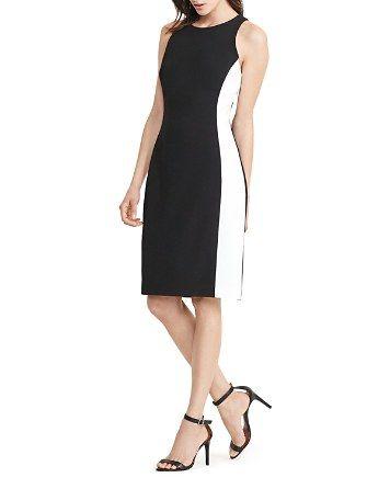 bca61474edf  Lauren Ralph Lauren Petites Side-Stripe Sheath Dress - Bloomingdale s