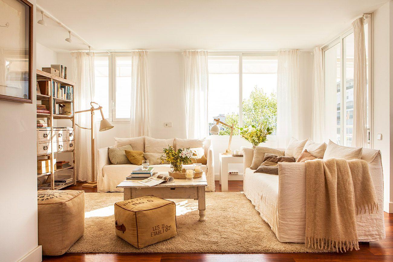 Salón en blanco y beige 00421107 | Pinterest | Colores suaves, Beige ...