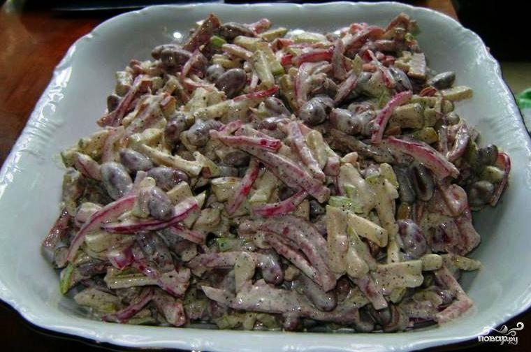 салаты из колбасы рецепты