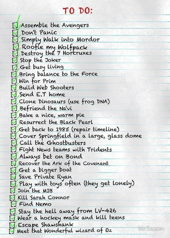 Nerd To Do List